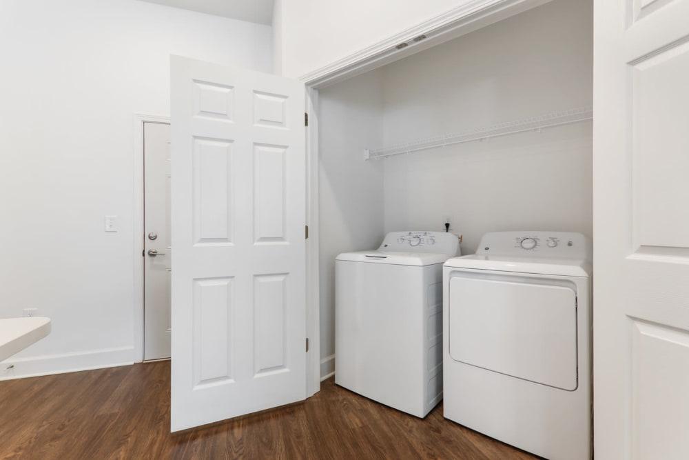 Spacious washer and dryer area at Arcadia Decatur in Decatur, Georgia