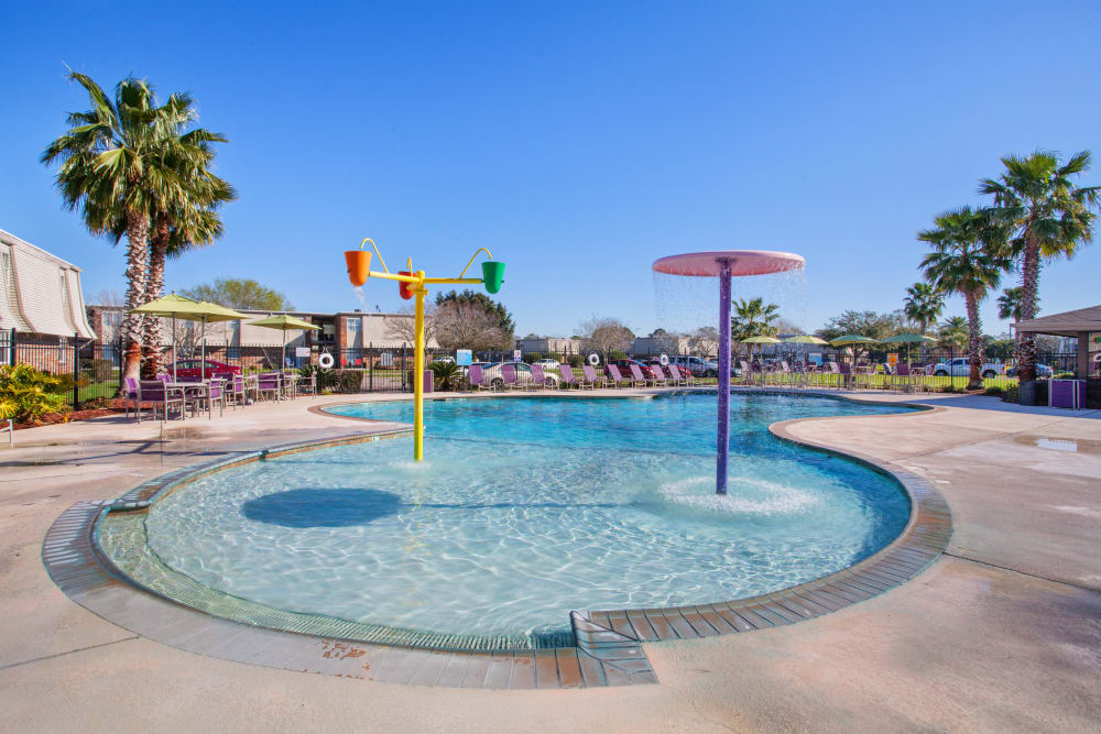 Beautiful pool at Emerald Pointe Apartment Homes In Harvey