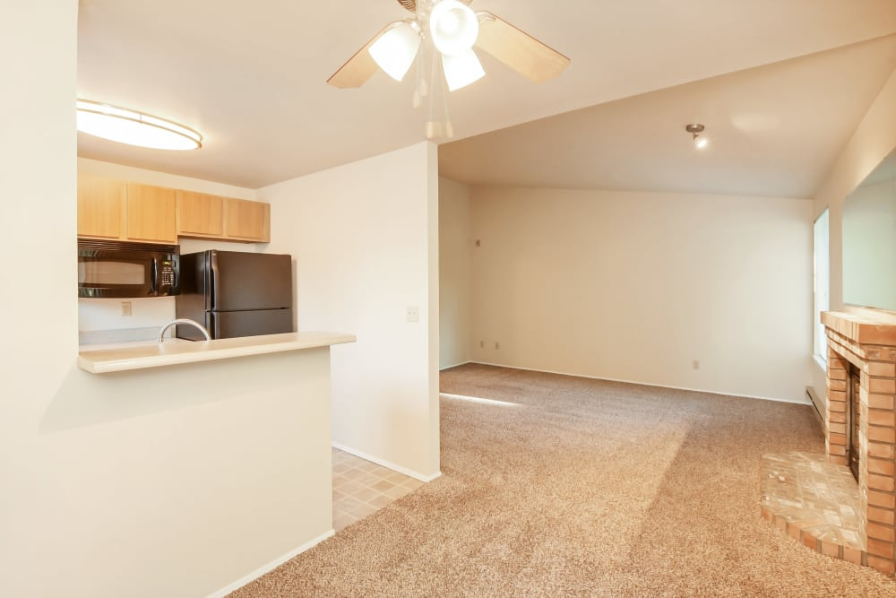 Living Room & Kitchen at Apartments in Olympia, Washington