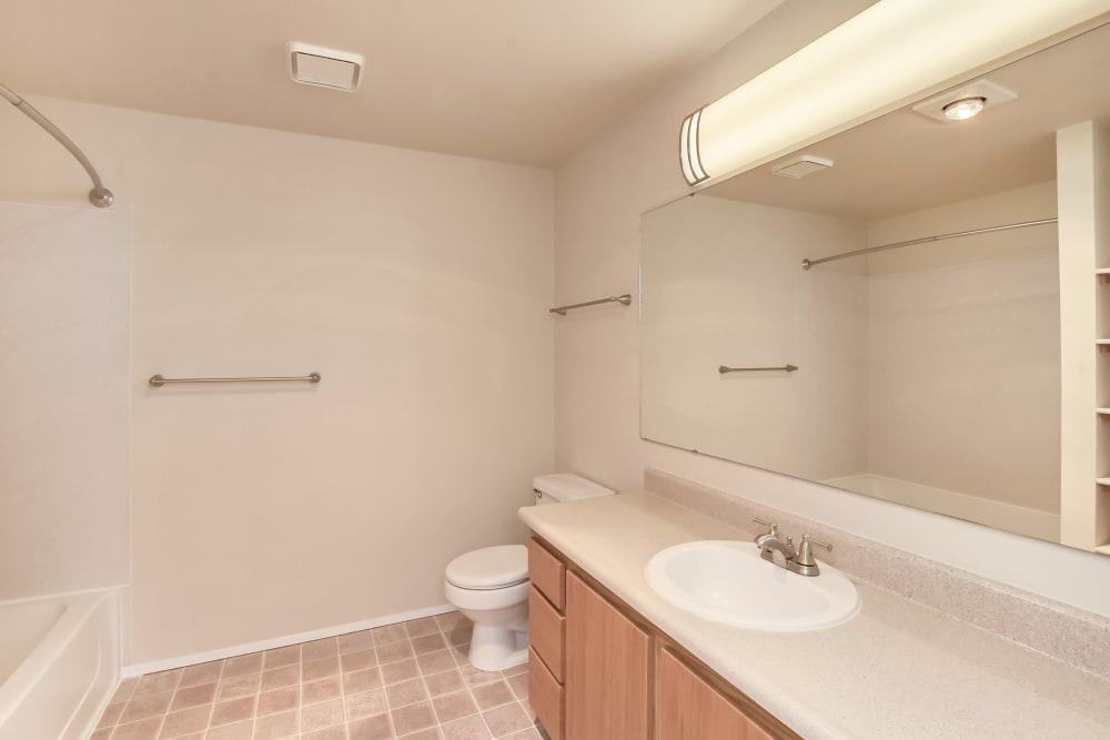 Bathroom at Apartments in Olympia, Washington