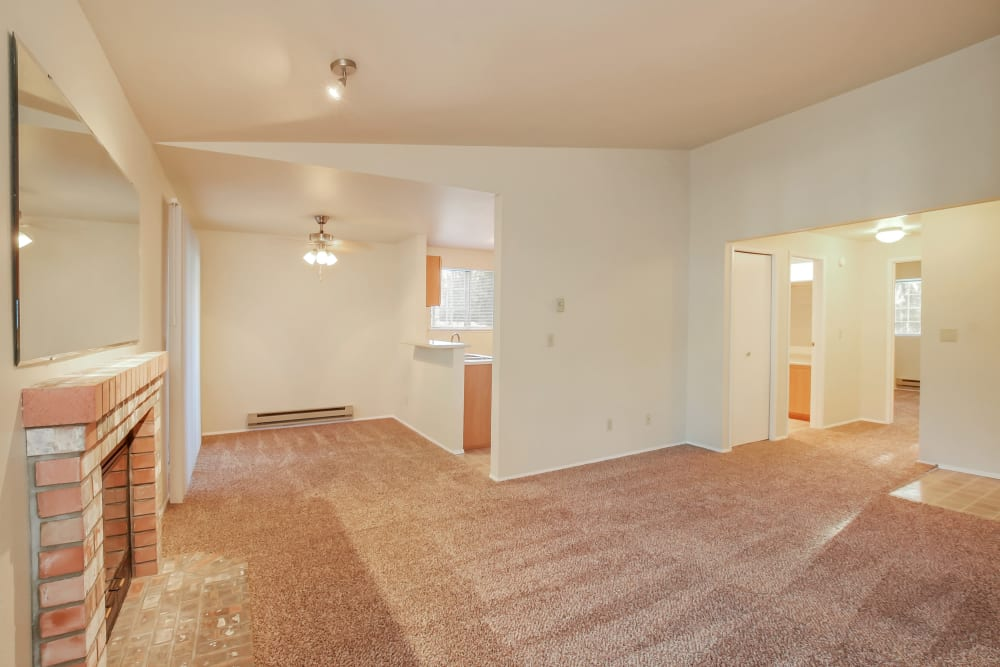 Living Room at Arbor Square Apartments in Olympia, WA