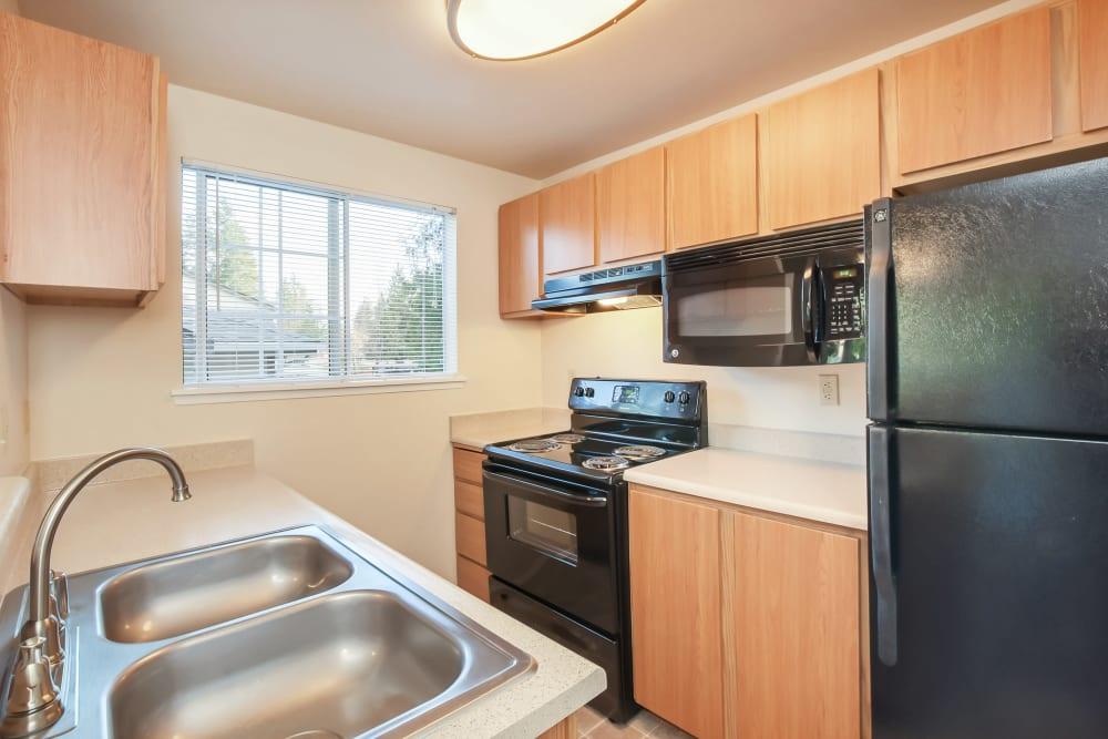 Kitchen at Arbor Square Apartments in Olympia, Washington