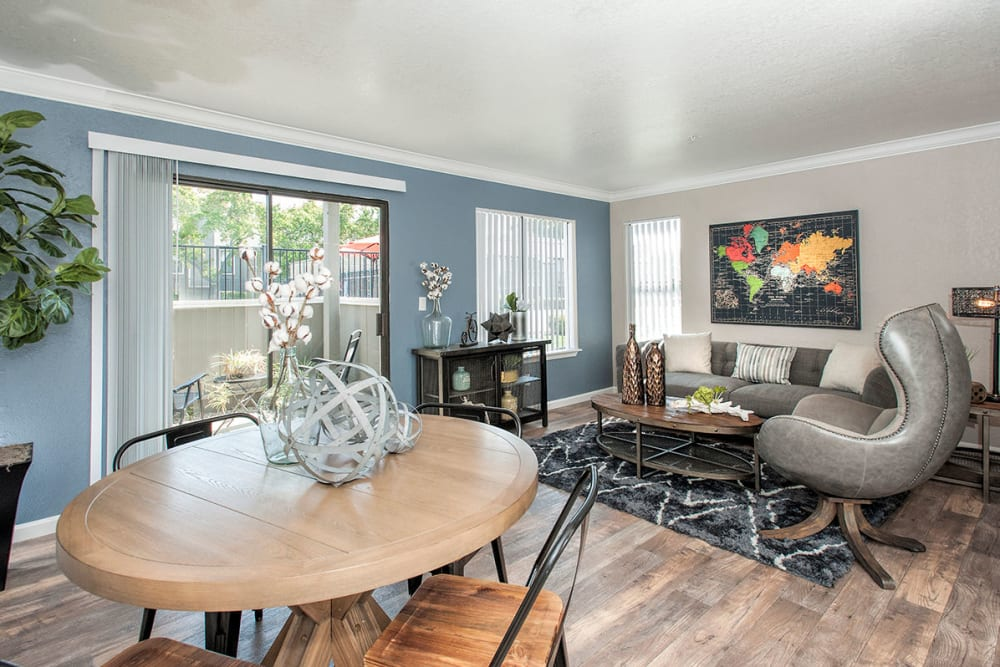 Model living room home at Sandpiper Village Apartment Homes in Vacaville, California