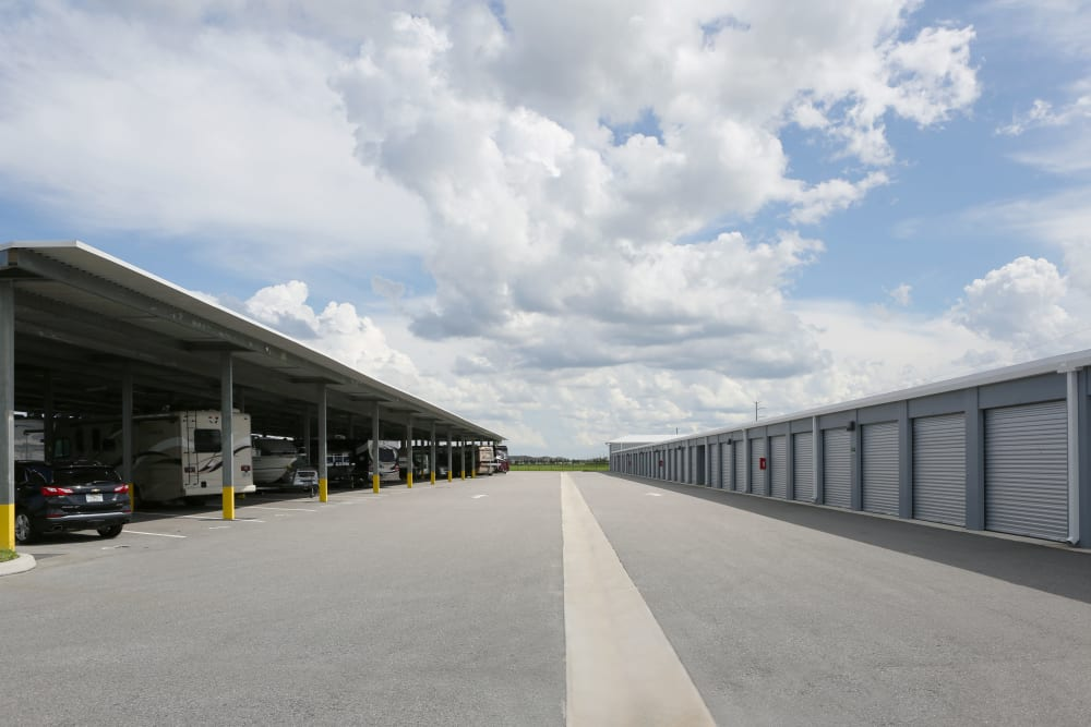 Exterior storage and RV units at Midgard Self Storage