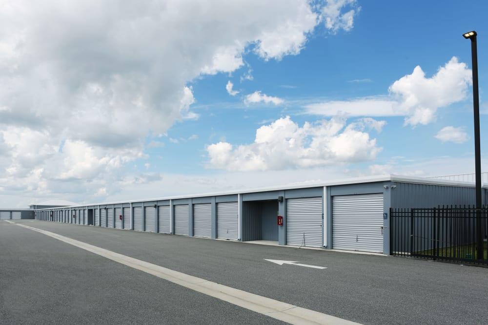 Exterior storage units at Midgard Self Storage