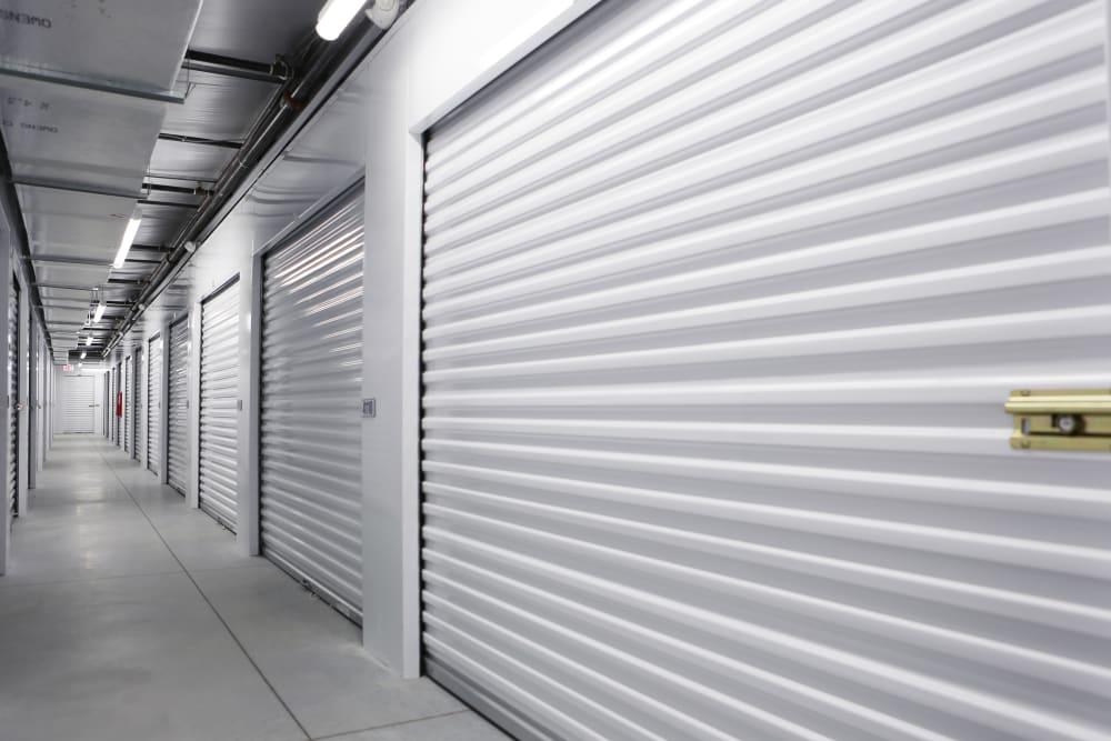 Interior storage units at Midgard Self Storage