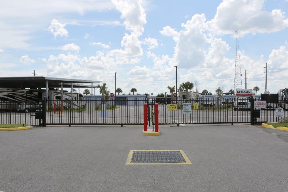 Gated entry at Midgard Self Storage
