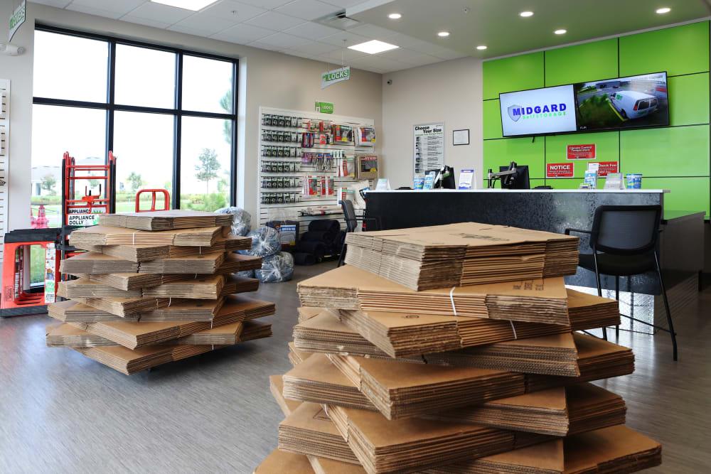 Leasing office at Midgard Self Storage