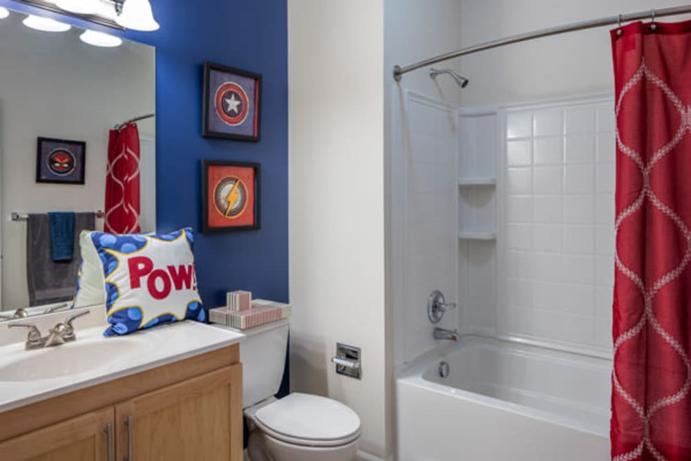 The Fairways Apartment Homes offers a luxury bathroom in Lee's Summit, Missouri