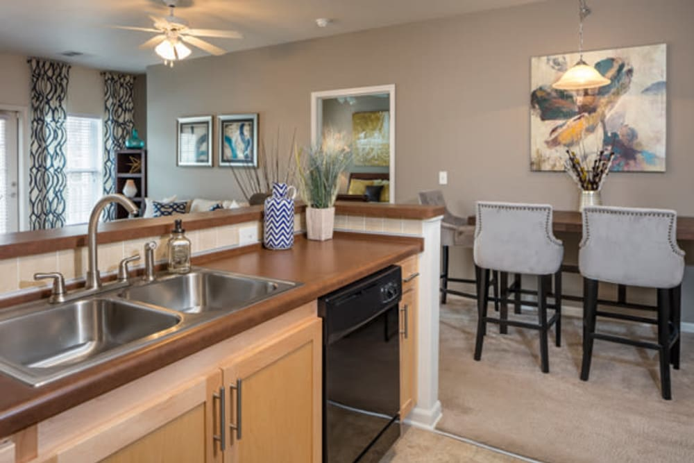 Luxury kitchen at The Fairways Apartment Homes in Lee's Summit, Missouri