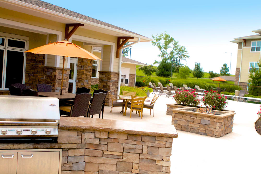 Enjoy a garden style bbq area at The Fairways Apartment Homes