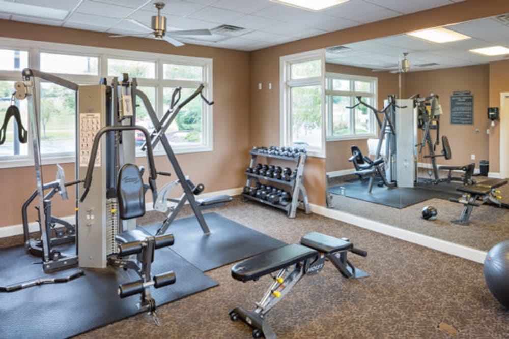 The Fairways Apartment Homes offers a luxury fitness center in Lee's Summit, Missouri