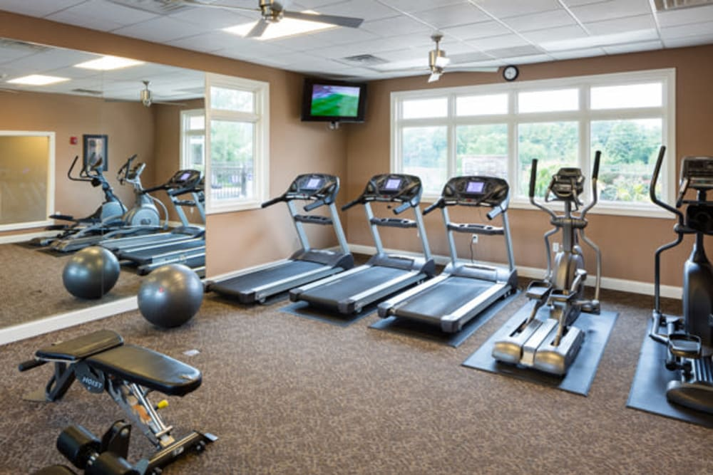 Luxury fitness center at The Fairways Apartment Homes in Lee's Summit, Missouri