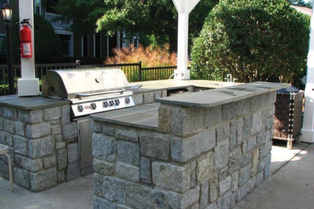 Barbecue area with gas grills at Azalea Springs in Marietta, Georgia