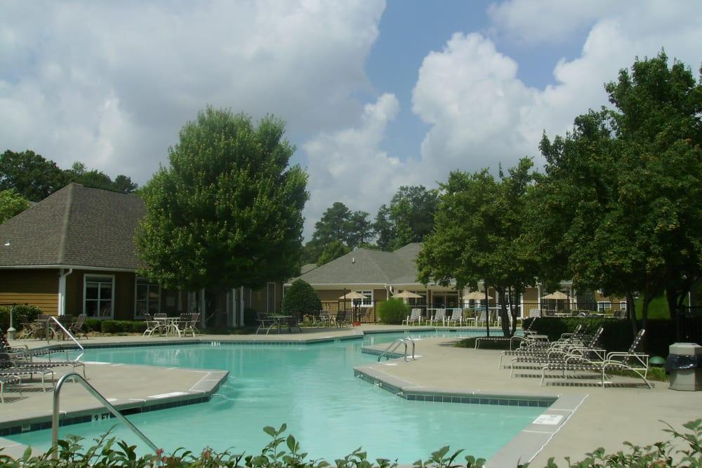 Resort-style swimming pool at Azalea Springs in Marietta, Georgia