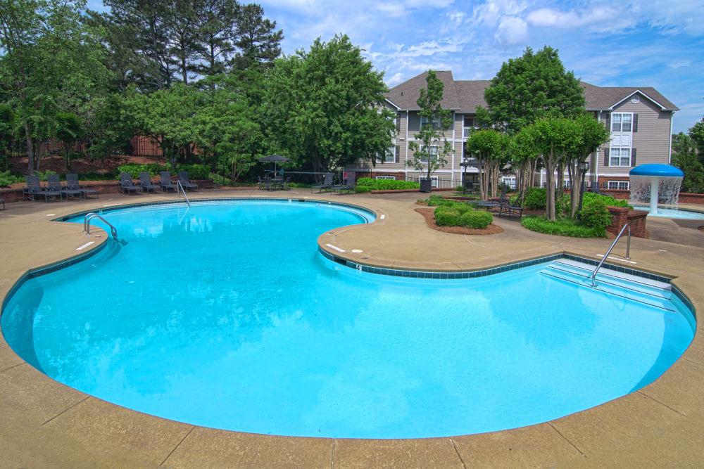 Resort-style swimming pool at Bellingham Apartment Homes in Marietta, Georgia