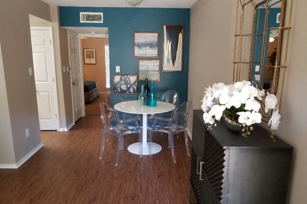 Floor plans with hardwood flooring at The Villages at Meyerland in Houston, Texas