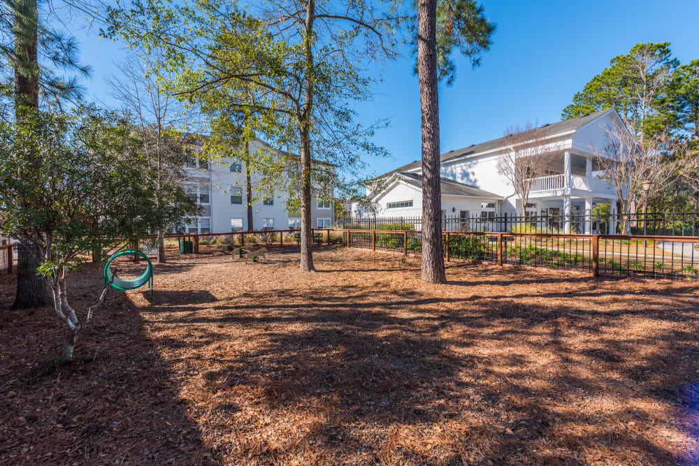 Dog park area at Ingleside Apartments in North Charleston, South Carolina