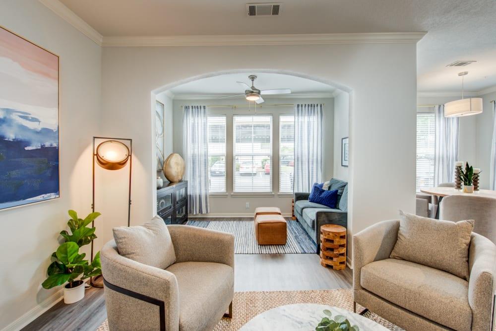 Living room & den seating areas at Ingleside Apartments in North Charleston, South Carolina
