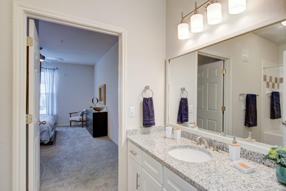 Master bathroom at Ingleside Apartments in North Charleston, South Carolina