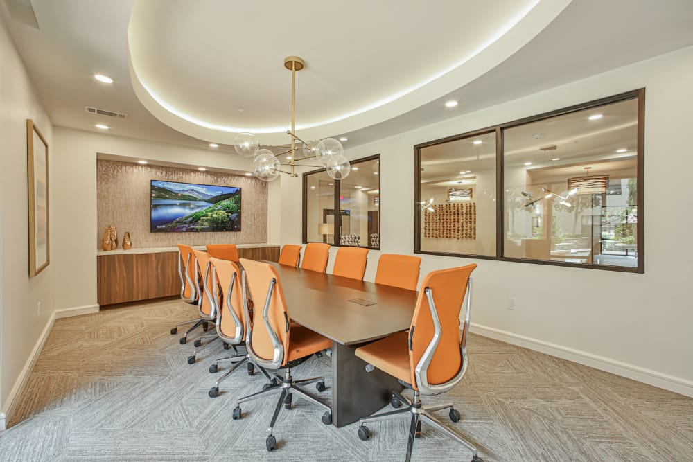 Resident meeting room at Broadstone Toscano in Houston, Texas