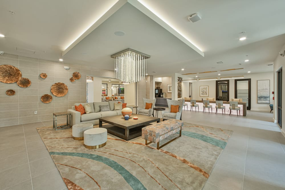 Resident lounge at Broadstone Toscano in Houston, Texas