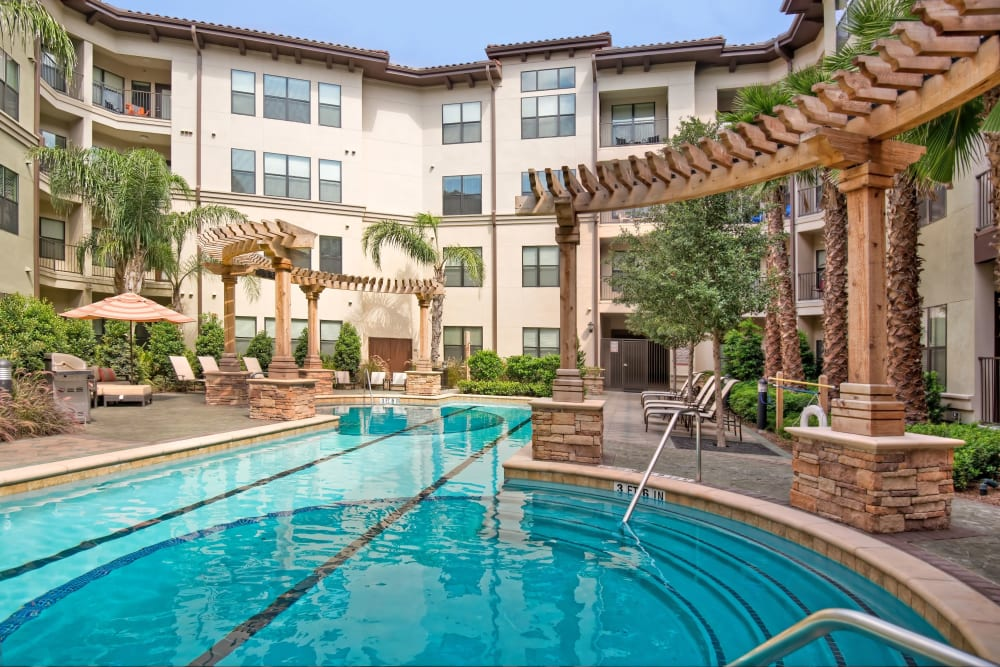 Sparkling pool at Broadstone Toscano in Houston, Texas