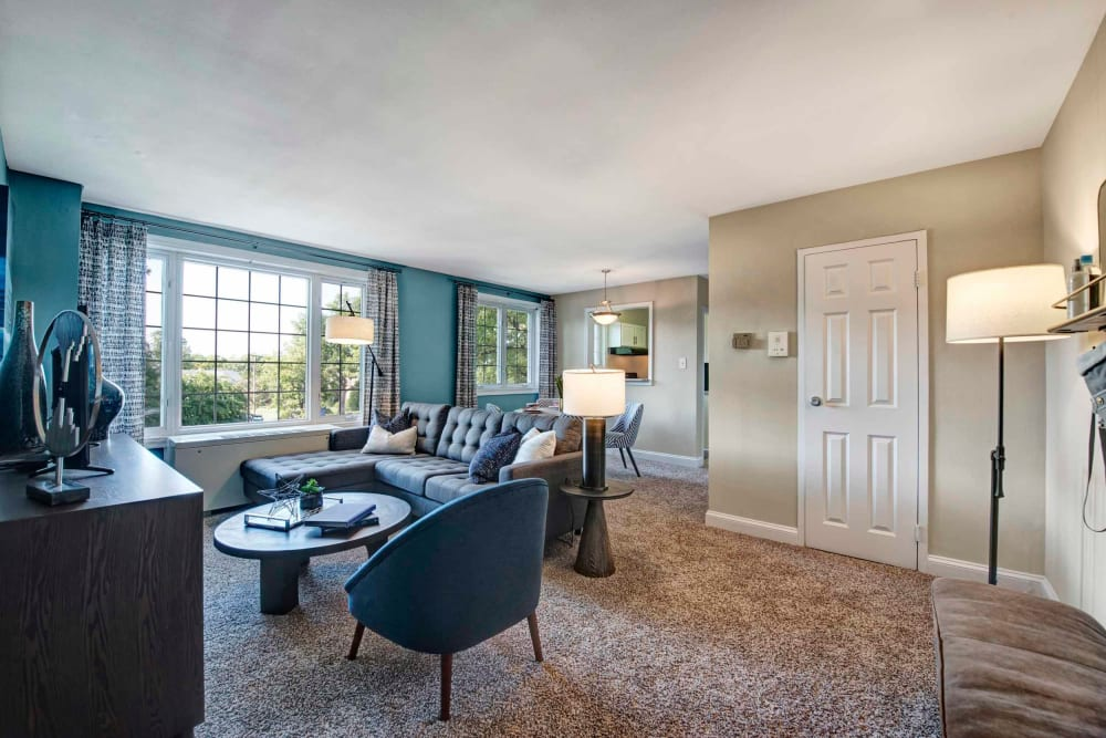 Furnished dining room at Braddock Lee Apartments in Alexandria, Virginia