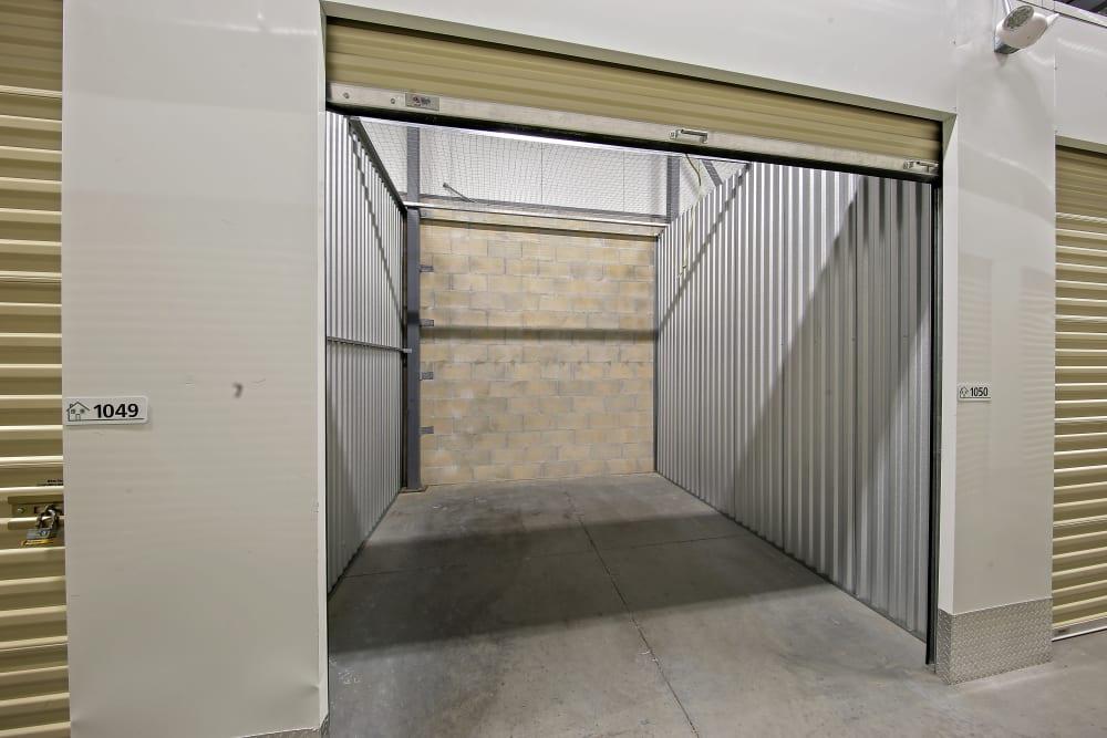 Inside of a self storage unit at My Neighborhood Storage Center in Orlando, Florida