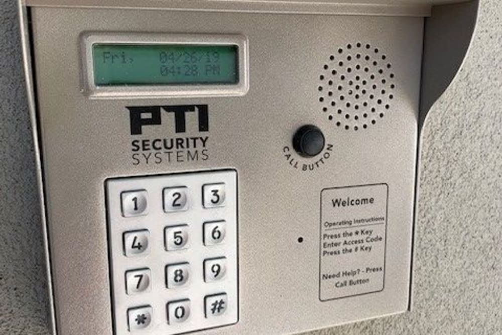 Keypad for entry into storage at My Neighborhood Storage Center in Jacksonville, Florida