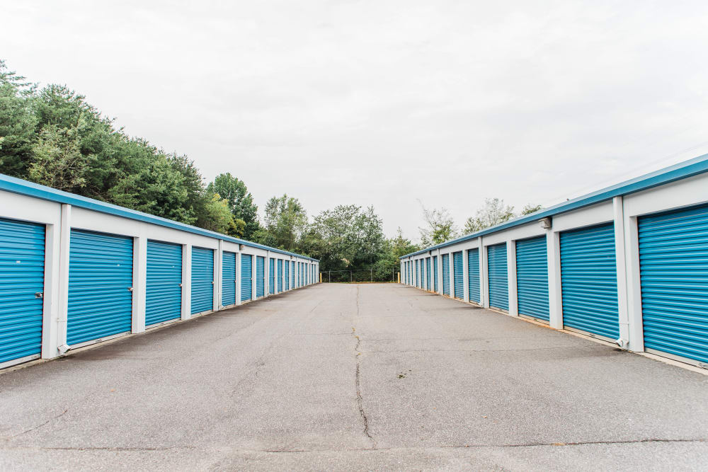 Driveway through Statesville Mini Storage in Statesville, North Carolina