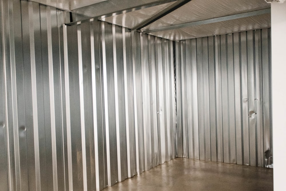 Inside of a self-storage unit in Statesville, North Carolina at Statesville Mini Storage
