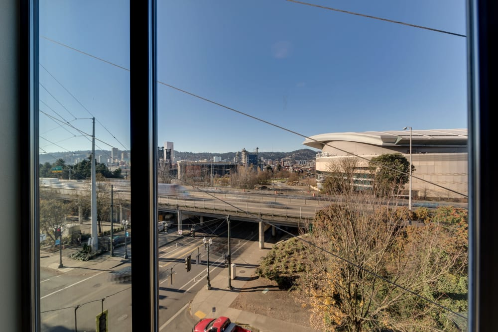 View of Portland, Oregon from a Milano apartment