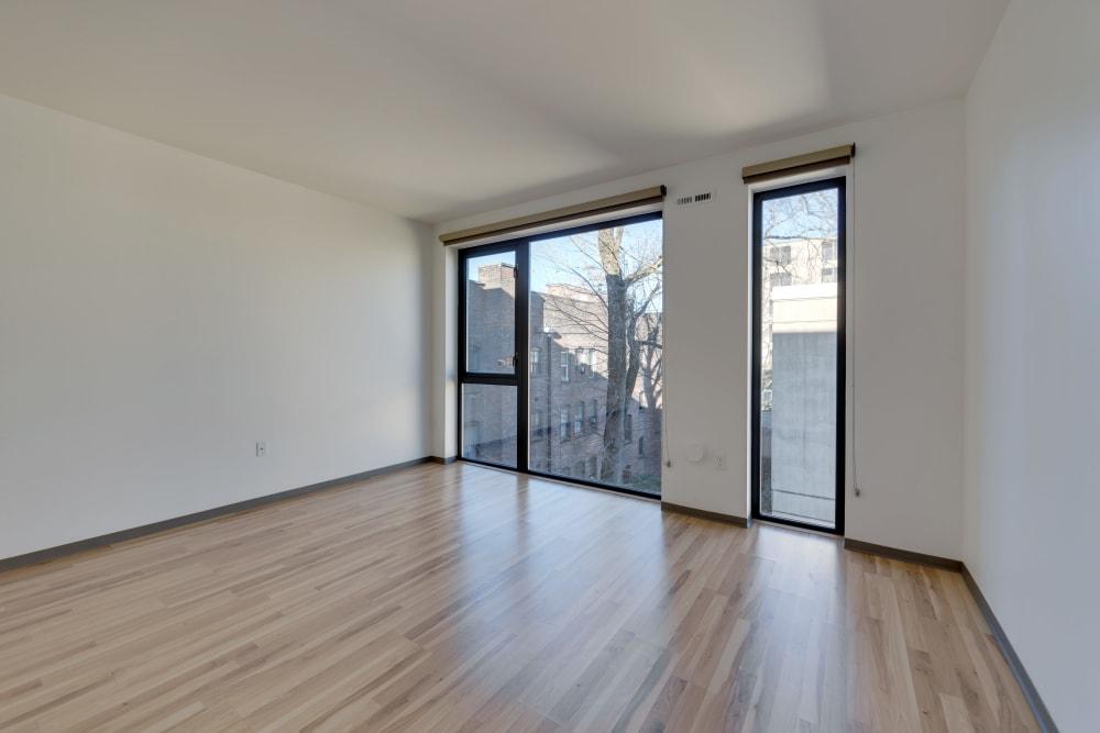 Spacious, bright living room at Milano in Portland, Oregon