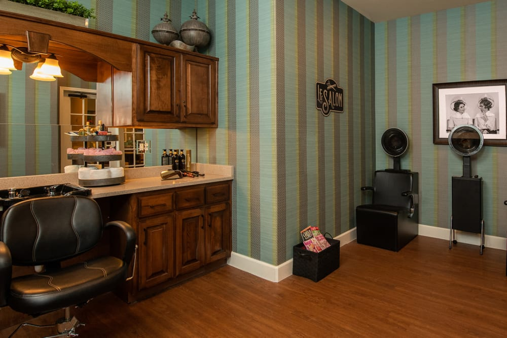 Barber & Beauty Salon at Willow Creek Memory Care at Lee's Summit