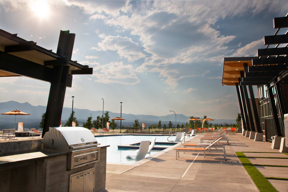 Pool Deck with BBQ at FalconView