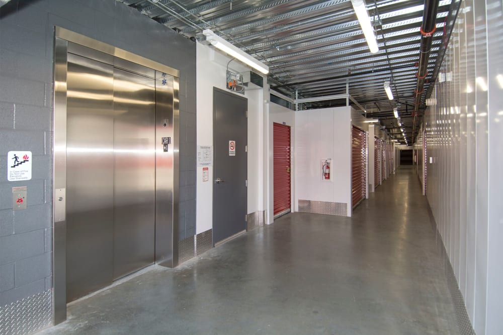 Accessible elevators at Trojan Storage in San Jose, California