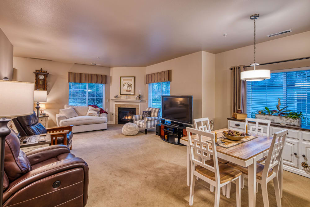 Spacious floor plans with large windows at Patriots Landing in DuPont, Washington.