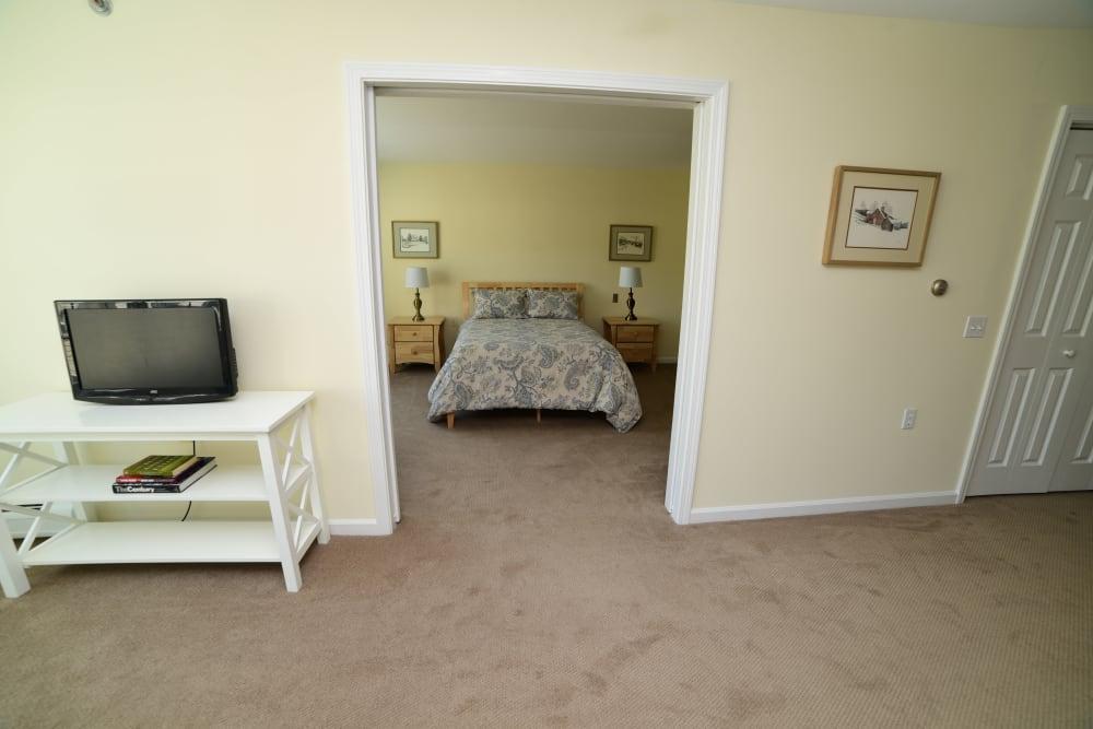 Looking into a bedroom at Harbor Village Senior Communities in South Burlington, Vermont
