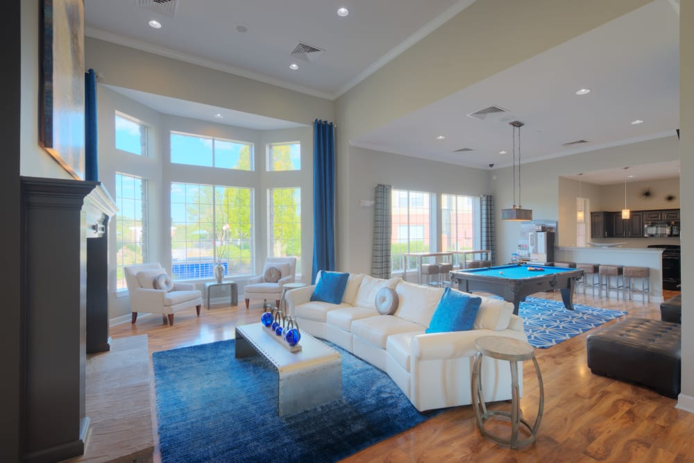 Clubhouse seating at Preston View in Morrisville, North Carolina