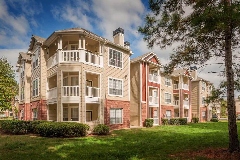 Sunny exterior at Preston View in Morrisville, North Carolina