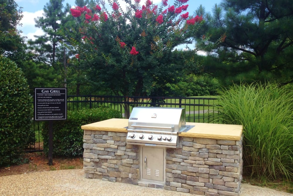 BBQ area at Preston View in Morrisville, North Carolina