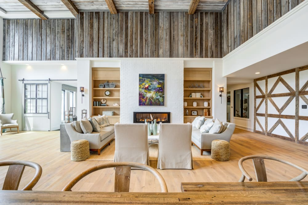 Clubhouse with wooden accents at The Heyward in Charleston, South Carolina