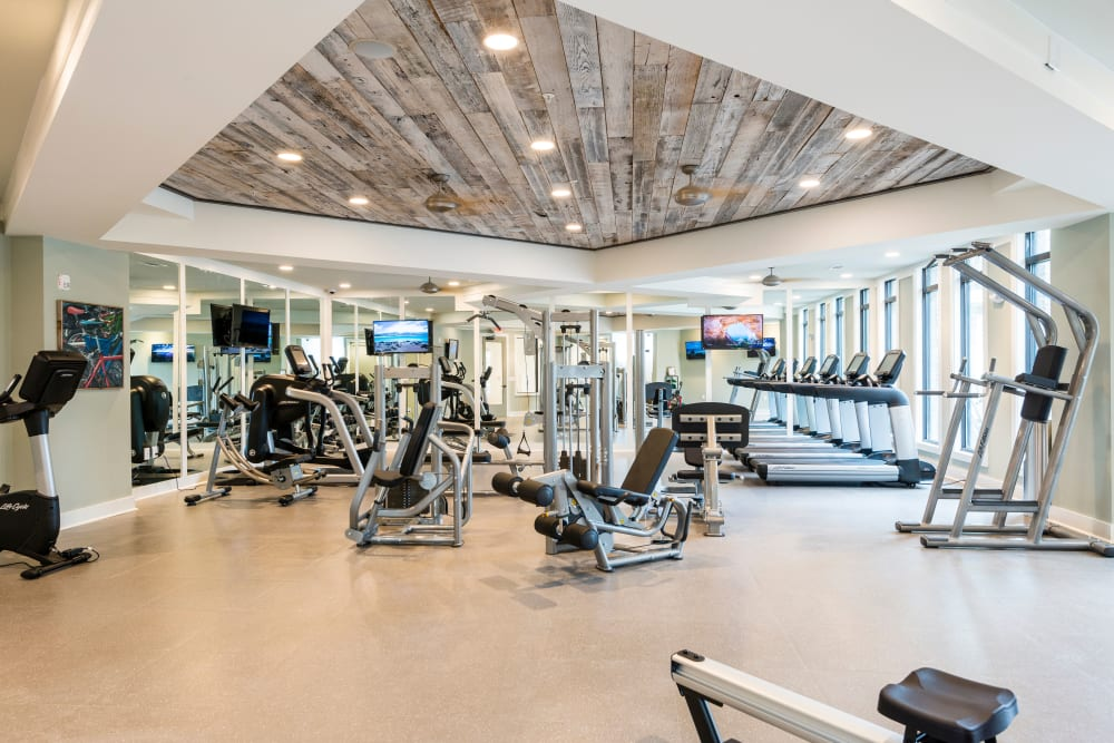 Workout room at The Heyward in Charleston, South Carolina