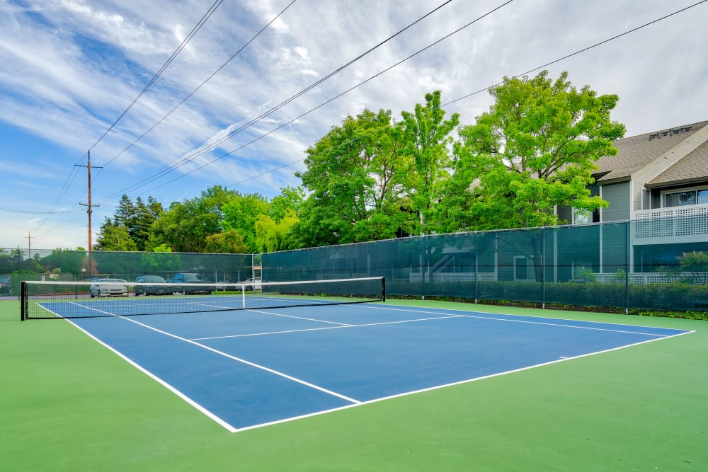 Community tennis courts at The Villages in Santa Rosa, California