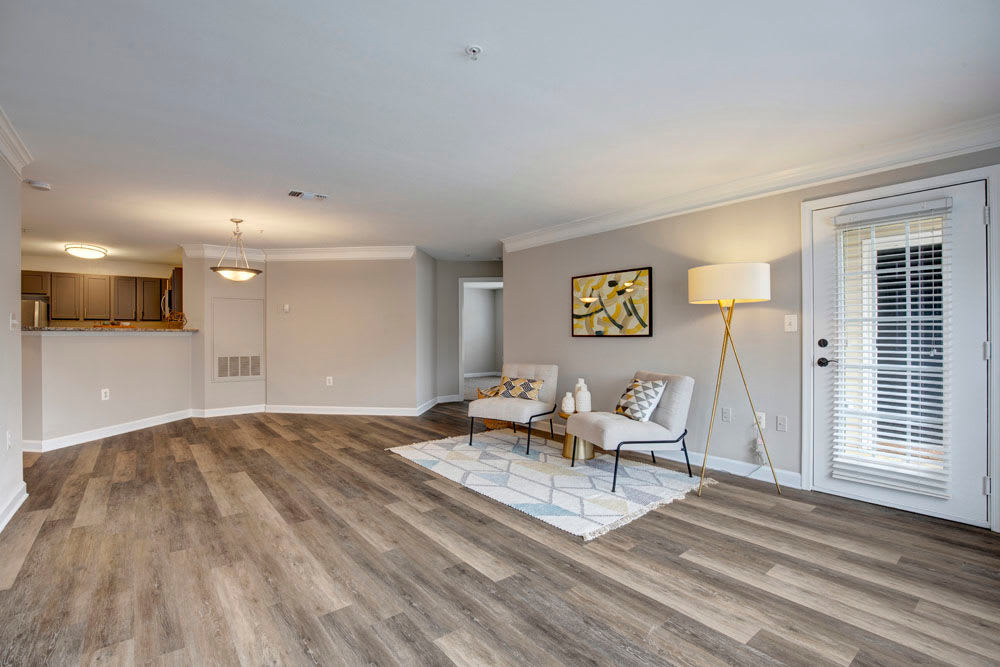 Beautiful Living Room at Apartments in Herndon, Virginia