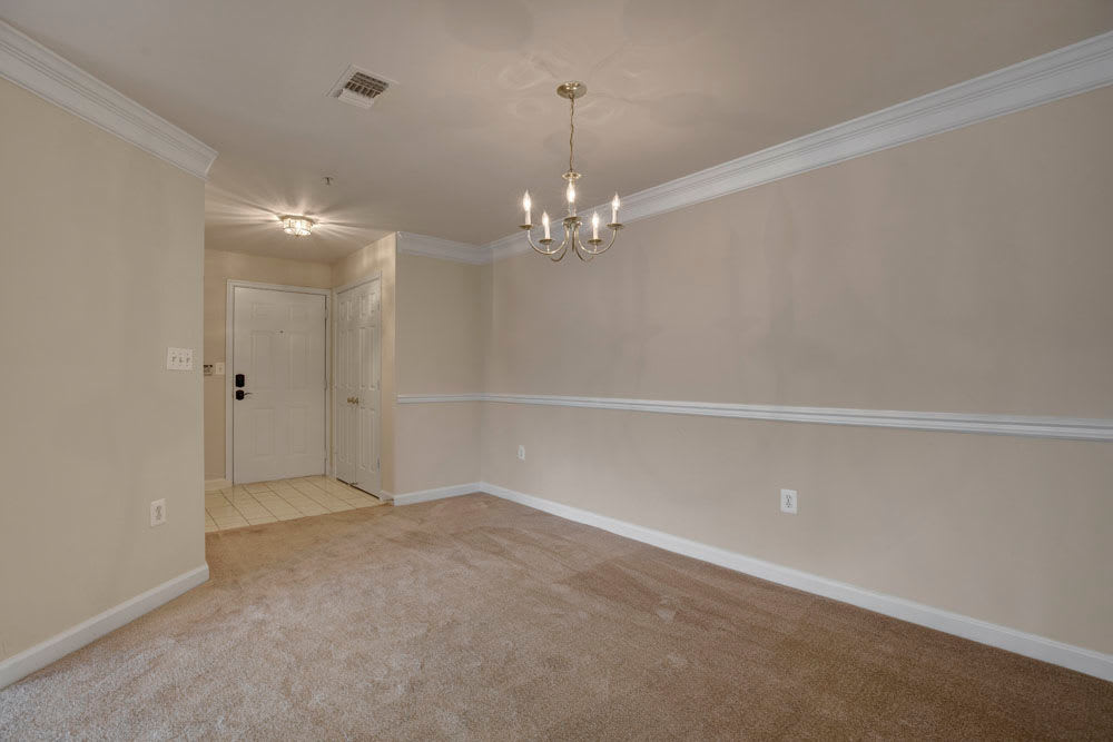 Open format floor plan dining space at Dulles Greene in Herndon, Virginia