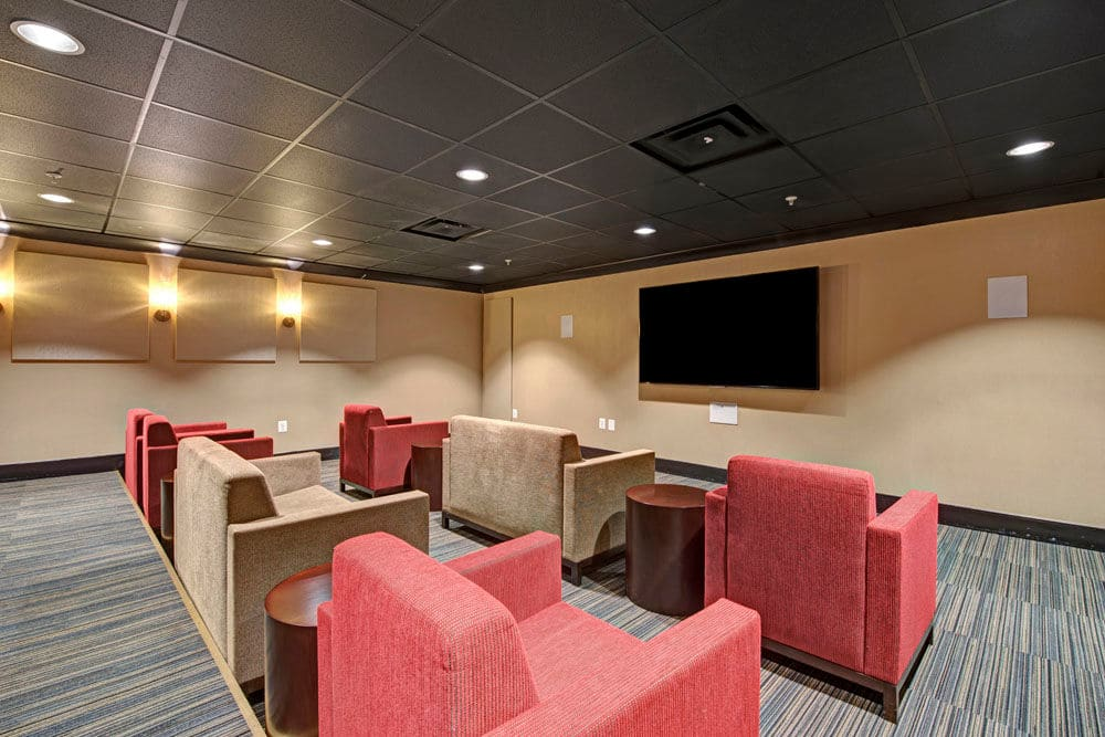 Community clubhouse space at Dulles Greene in Herndon, Virginia
