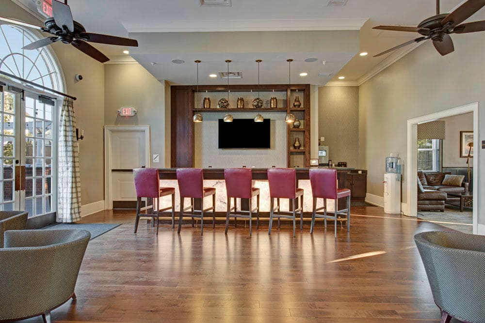 Spacious and modern clubhouse at Dulles Greene in Herndon, Virginia