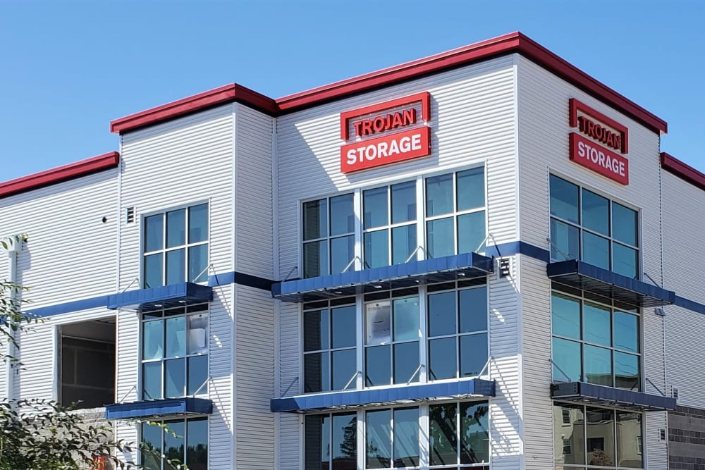 The exterior of Trojan Storage in San Jose, California